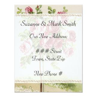 Vintage Hochzeits-neue Adressen-Karten 10,8 X 14 Cm Einladungskarte