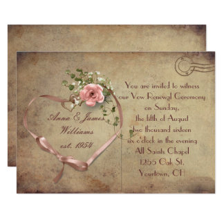 Vintage Hochzeits-Postkarte Karte