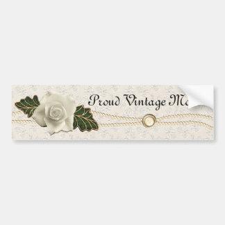 Vintage Hochzeits-Rose Autoaufkleber