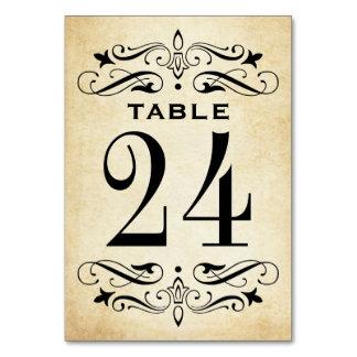 Vintage Hochzeits-Tabelle kardiert elegantes   Karte