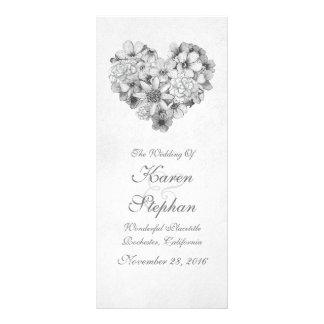 Vintage Hochzeitsprogramme Werbekarte