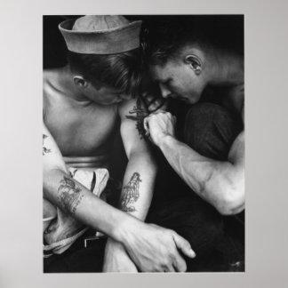 Vintage homosexuelle Interessenstückseeleute mit T Poster