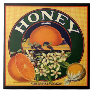 Vintage Honigfirmenanzeige-Keramikfliese Keramikfliese