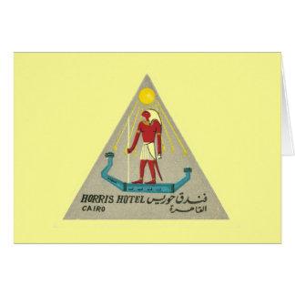 Vintage Hotel-Aufkleber-Kunst Reise-Kairos Ägypten Karte