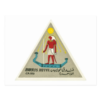 Vintage Hotel-Aufkleber-Kunst Reise-Kairos Ägypten Postkarte