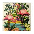 Vintage hübsche rosa Flamingo-Fliese für Keramikfliese