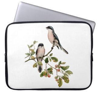 Vintage hübsche Vögel auf einer Niederlassung Laptop Sleeve
