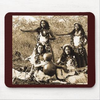 Vintage Hula Mädchen vom Gebiet von Hawaii Mauspad