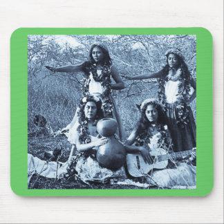 Vintage Hula Mädchen vom Gebiet von Hawaii Mauspads