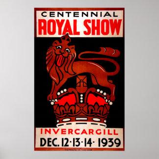 Vintage hundertjährige königliche Show Poster