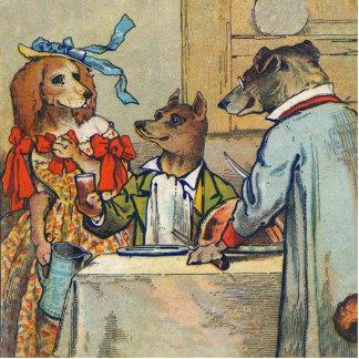 Vintage Hundeviktorianisches Abendkleid Foto Ausschnitt
