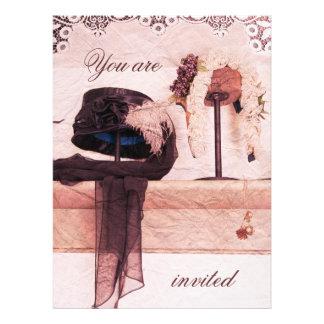 Vintage Hut-Brautparty-Einladungsschablone