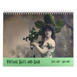 Vintage Hüte und Haar ---Sept. 2017 - August 2018 Kalender