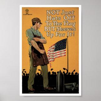 Vintage Hüte weg vom Flaggen-Kunst-Druck-Plakat Poster