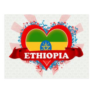 Vintage i-Liebe Äthiopien Postkarte