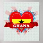 Vintage i-Liebe Ghana Poster