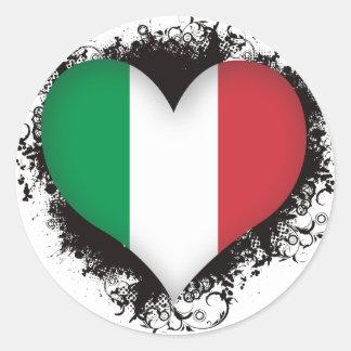 Vintage i-Liebe Italien Runder Aufkleber