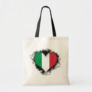 Vintage i-Liebe Italien Tragetasche