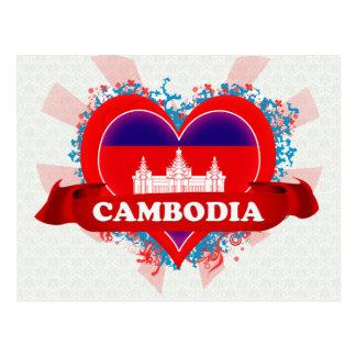 Vintage i-Liebe Kambodscha Postkarte