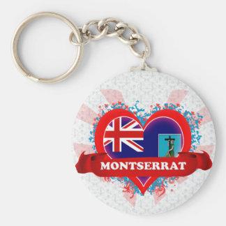 Vintage i-Liebe Montserrat Standard Runder Schlüsselanhänger