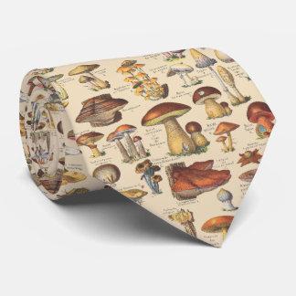 Vintage Illustration der Pilze Individuelle Krawatte