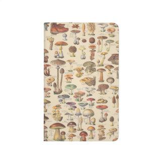 Vintage Illustration der Pilze Taschennotizbuch