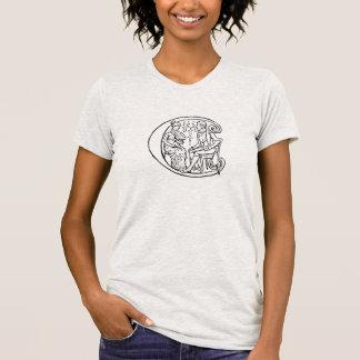 Vintage Illustration des Buchstaben c T-Shirt