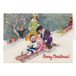 Vintage Illustrations-Weihnachtskarte Karte