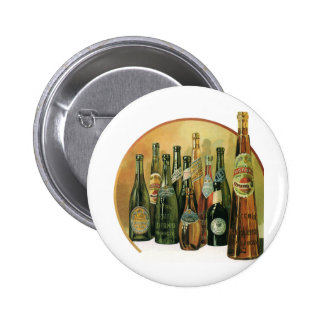 Vintage importierte Bierflaschen, Alkohol, Button