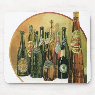 Vintage importierte Bierflaschen, Alkohol, Mousepad