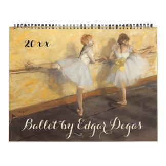 Vintage Impressionismus-Ballett-Kunst durch Edgar Abreißkalender