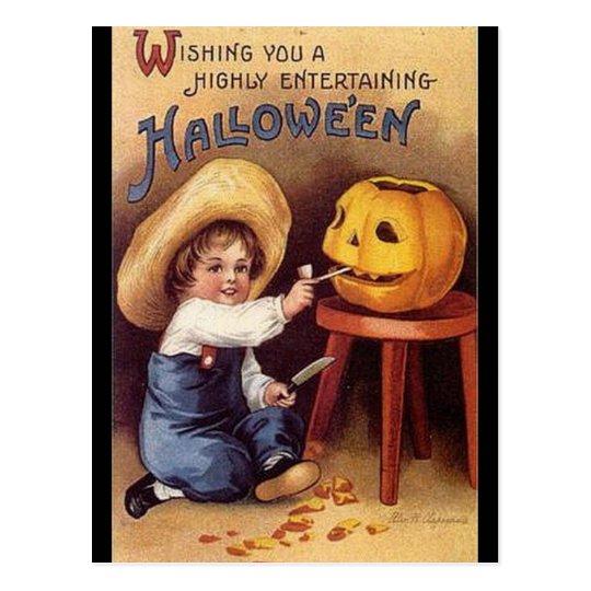 vintage in hohem grade unterhaltsame halloween postkarte zazzle. Black Bedroom Furniture Sets. Home Design Ideas