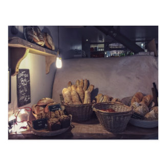 Vintage Innenarchitektur der Bäckerei und des Postkarte