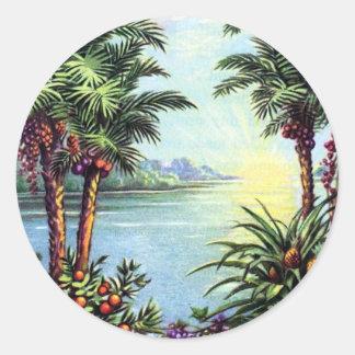 Vintage Insel Runder Aufkleber