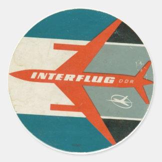 Vintage Interflug Gepäck-Aufkleber-Wiedergabe