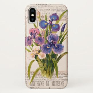 Vintage Iris-Antike und Moderne Collage iPhone X Hülle