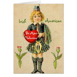 Vintage irische amerikanische Karte des Valentines