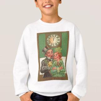 Vintage irischen Herz-St Patrick Tageskarte Sweatshirt