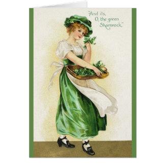 Vintage irischen Kleeblatt-St Patrick Tageskarte Karte