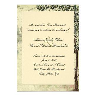 Vintage Italiener-Myrte-Baum-Hochzeits-Einladung 12,7 X 17,8 Cm Einladungskarte