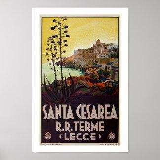 Vintage italienische Reise Sankt Cesarea Terme Poster
