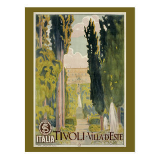 Vintage italienische Reiseanzeige Tivoli Lazio Rom Postkarte