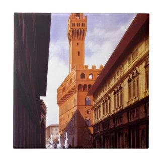 Vintage italienische Tourismus-Plakat-Szene Fliese