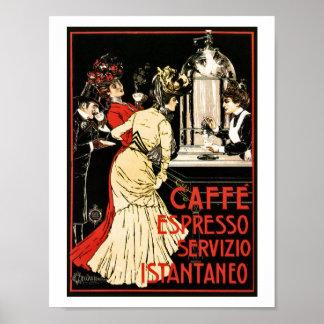 Vintage italienische viktorianische Kaffee Poster