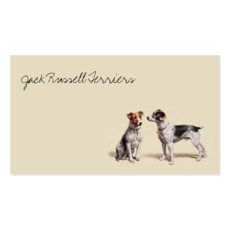 Vintage Jack-Russell-Terrier Visitenkarten