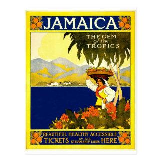 vintage-jamaica-travel-poster. postkarte