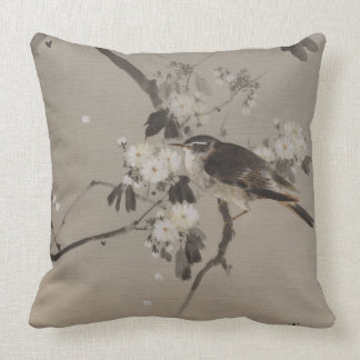 Vintage Japaner Ukiyo-e Malerei eines Vogels Kissen