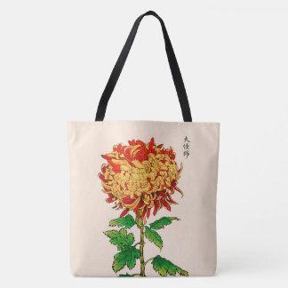 Vintage japanische Chrysantheme. Gold und Orange Tasche