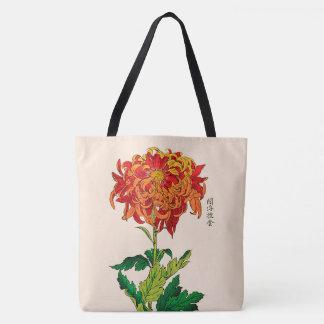 Vintage japanische Chrysantheme. Rost und Orange Tasche