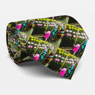 Vintage japanische Familie an der Bedruckte Krawatte